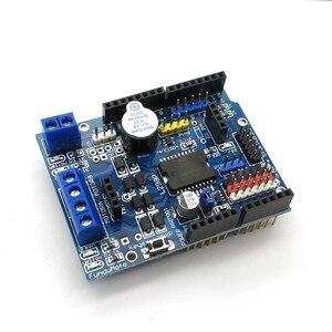 Image 1 - L298P PWM מהירות בקר כפולה גבוהה כוח H גשר נהג, Bluetooth ממשק, l298P מנוע מגן לוח לarduino