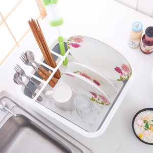 Image 2 - Foldable Dish Rack Kitchen Storage Holder Multi purpose Cutlery Storage Box Portable Collapsible Dish Drainer Stand Cup Holder