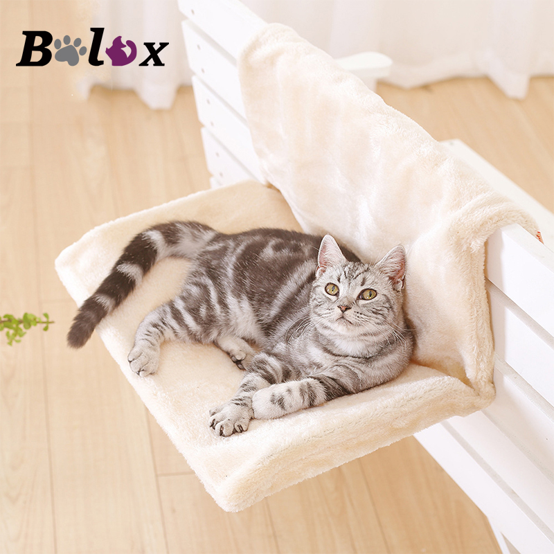 Cat Beds & Mats Hot Portable Pet Cat Hanging Bed Detachable Sucked Type Window-mounted Windowsill Hammock