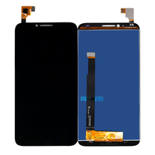 Alcatel One Touch Idol 2 için OT6037 LCD dokunmatik ekran digitizer sensörü meclisi Alcatel 6037 ekran ücretsiz kargo