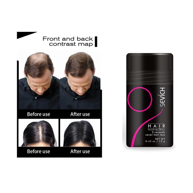 12g Keratin Dicker Haar Gebäude Fasern Volle Concealer Haar Sofort Refill Refill Verdickung Haar Pulver Für Männer & Frauen