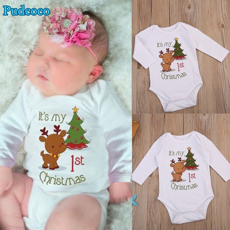 Pudcoco 2019 Brand New Newborn Baby Girls Boy Long Sleeve Bodysuit  Jumpsuit Outfit Clothes
