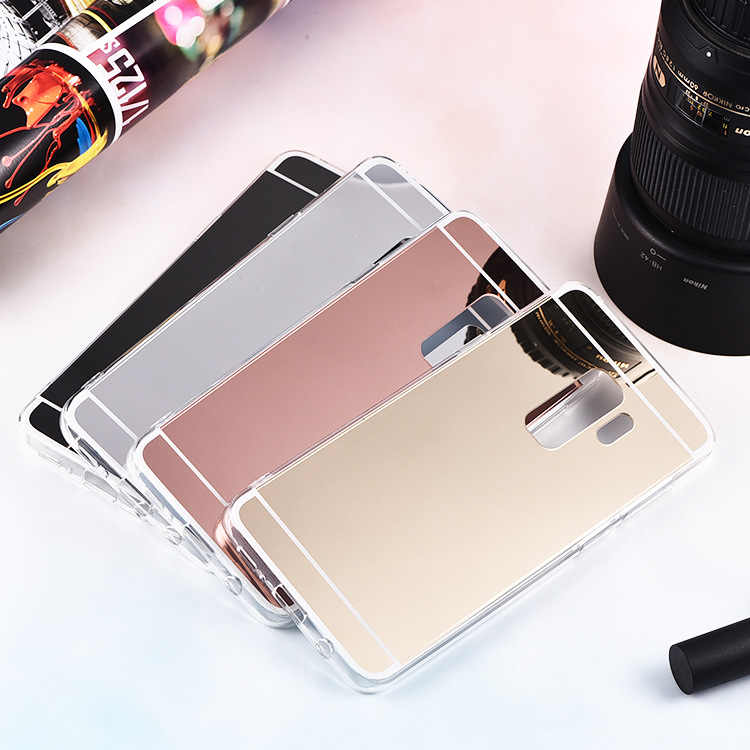 Luxury Mirror TPU Cases For Samsung Galaxy A750 J2 CORE PRO A6 A8 J6 J4 PLUS 2018 Note9 S8 S9 Rose gold Flash Fashion Soft Cover