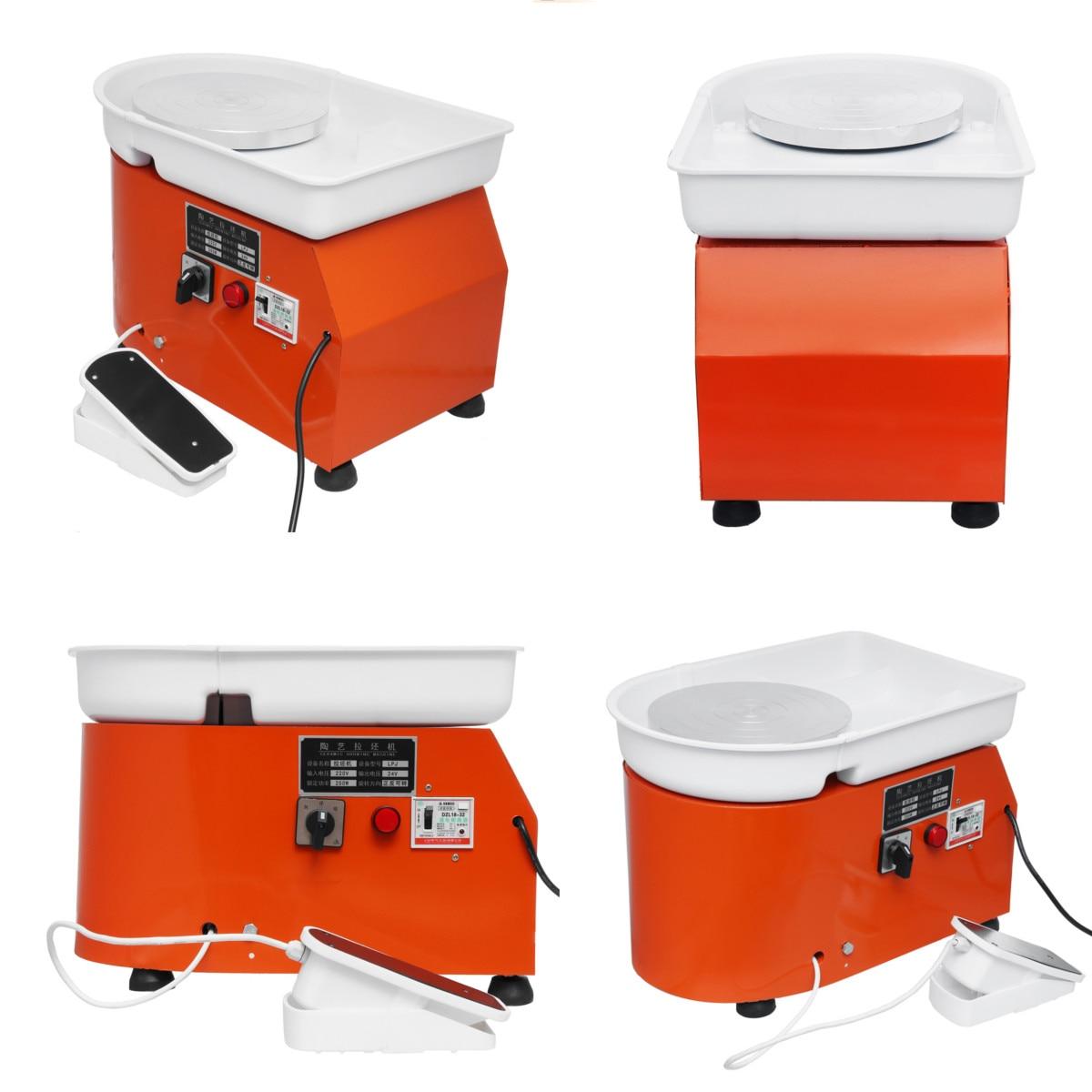 Poterie formant la Machine 110 V/220 V 350 W poterie électrique roue argile pour travaux pratiques outil avec plateau pédale Flexible pour les travaux en céramique - 4
