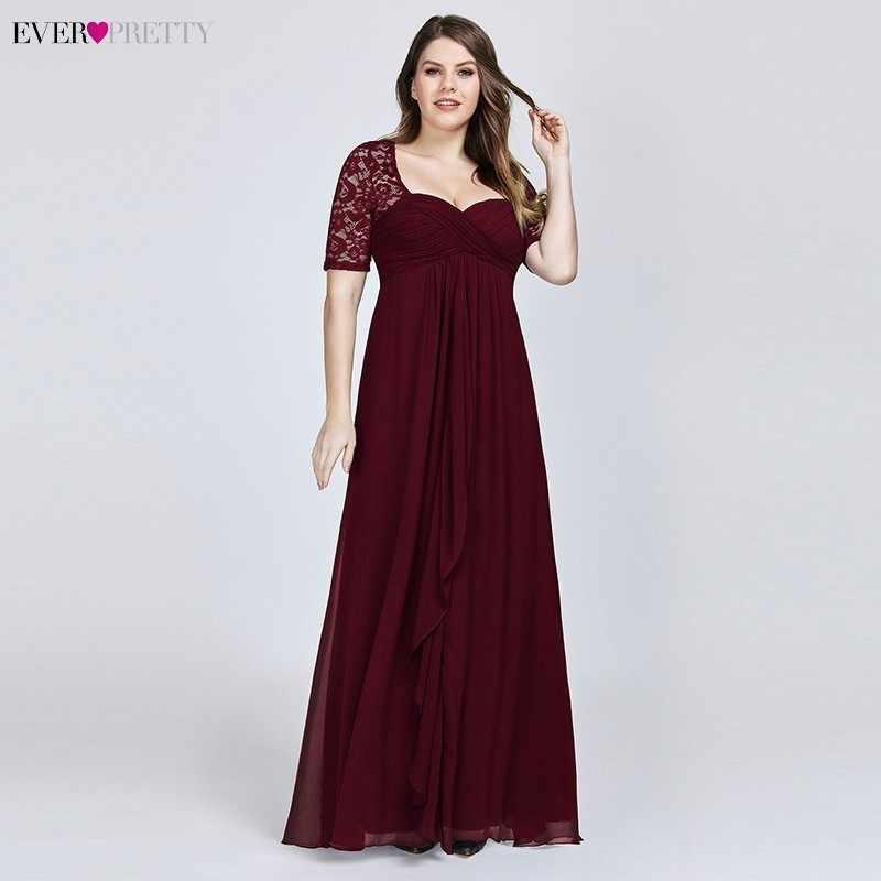 Vestidos de talla grande de la madre de la novia vestidos siempre bonitos azul marino de encaje Formal vestido de fiesta de boda EZ07625 Abito Mamma Sposa tafetán