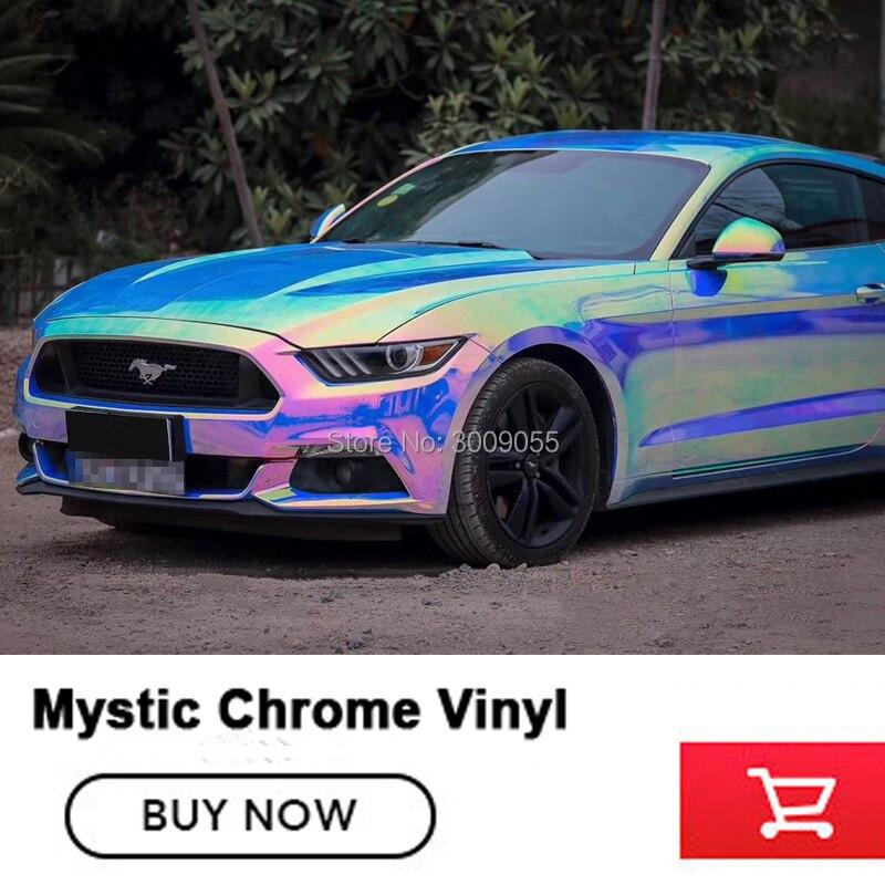Iridescence Wrap bleu Agat mystique Chrome vinyle voiture autocollant avec air gratuit prix de gros choix de couleur chaude
