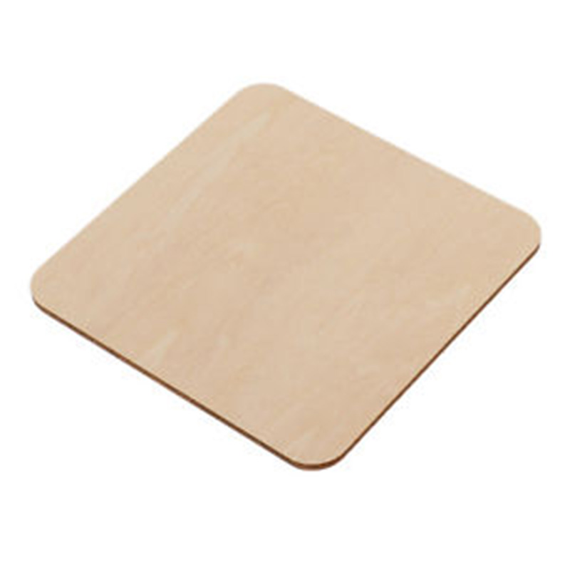 50/100pcs Wooden Pieces Blank Plaque Building Model Square MDF Unfinished  For DIY Crafts Pyrography Projects Games Tools