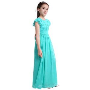 Image 3 - Iiniim בנות פרח טוטו שמלת רפרוף שרוולים נסיכת שמלות שושבינה קיץ מסיבת יום הולדת שמלת בגדי ילדים
