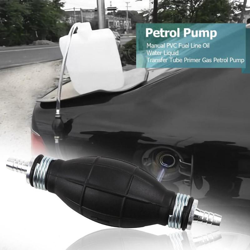 VODOOL Car Accessories Hand Manual PVC Fuel Line Oil Water Liquid Transfer Pump Tube Primer Gas