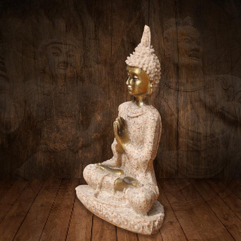 Sandstone Golden Buddha Statue 4