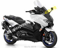 Hot Sales,For Yamaha TMAX 530 2017 2018 TMAX530 T-MAX530 17 18 T-MAX 530 White Black Motorcycle Fairing Kit (Injection molding)