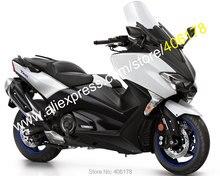 Лидер продаж, для Yamaha Tmax 530 2017 2018 TMAX530 T-MAX530 17 18 T-MAX 530 Белый Черный мотоциклов обтекателя Kit (литья под давлением)