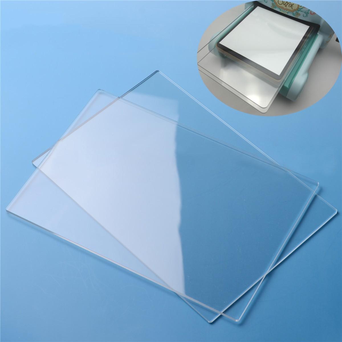 2pcs x 155mm*225mm*3mm Generic Acrylic Transparent Cutting Plates For Big Shot2pcs x 155mm*225mm*3mm Generic Acrylic Transparent Cutting Plates For Big Shot