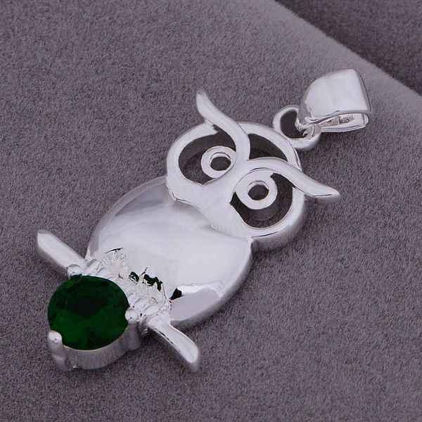 An941 Panas 925 Sterling Silver Kalung 925 Silver Fashion Perhiasan Liontin Burung Hantu Set dengan Batu/Hlwaqdda Bqiakhpa