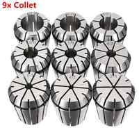 WOLIKE 9Pcs ER32 Precision Spring Collet 2/4/6/8/10/12/16/18/20mm Workholding Tools Tool Holder