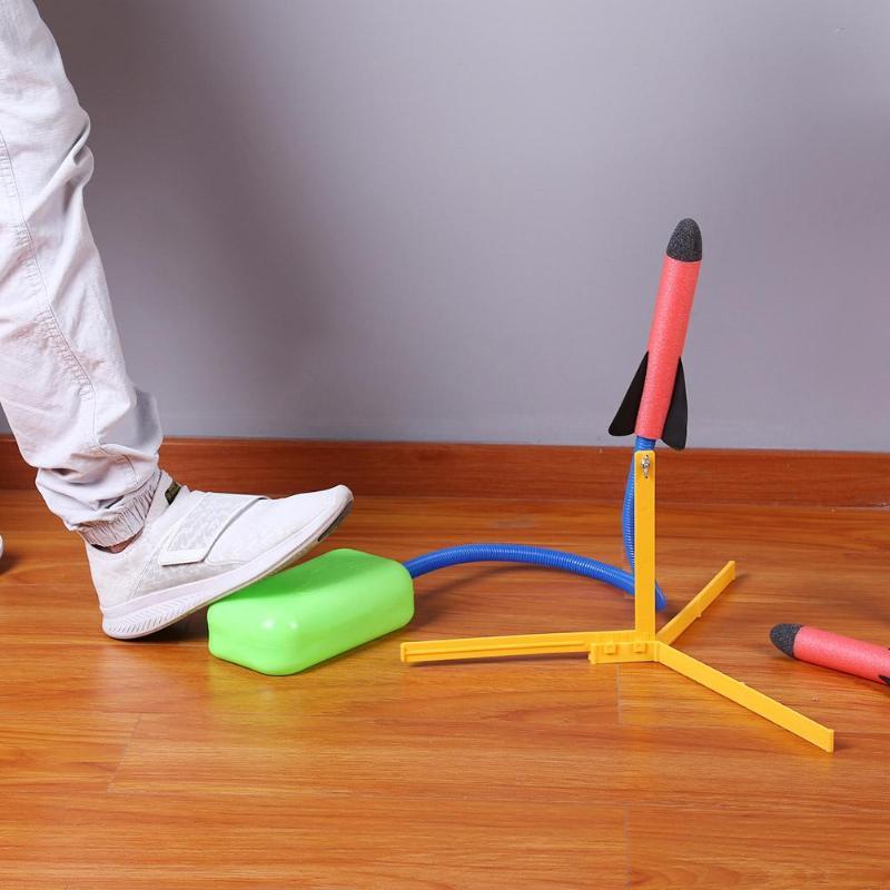Kids Air Pressed Rocket Launcher Step Pump Children's Toy EVA Safety Sports Kids Toys Set Air Pressed Rocket Launcher Pedal Toy