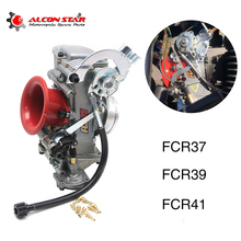 цена на Alconstar -Motorcycle Keihi FCR37 FCR39 FRC41mm Flat Slide Carburetor Carb for KTM XR DR KLX KLX400 DRZ 400S 400S 400E Racing
