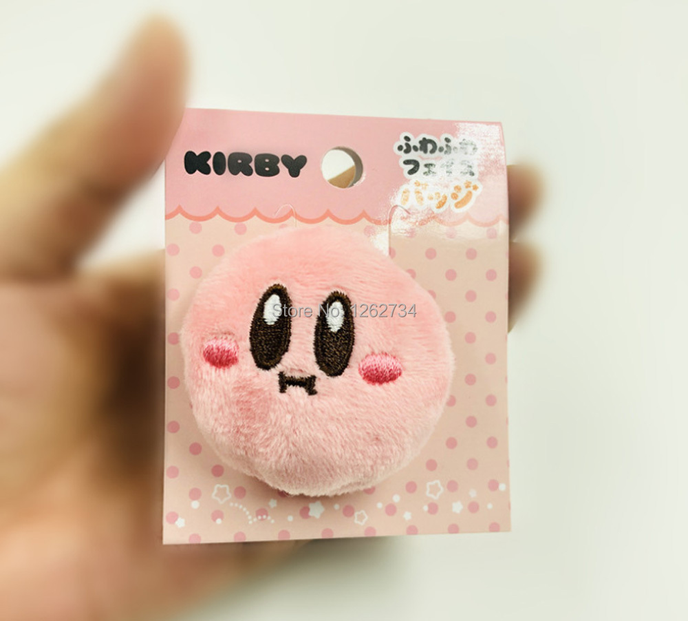 Star Kirby Kawaii Cute Badge Pin Brooch Plush Toy