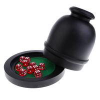 Poker Game Dices And Cup Dices For D&D RPG MTG Table Games For KTV Bar Party Casino Gambling Entertainment Tools 13.5cm