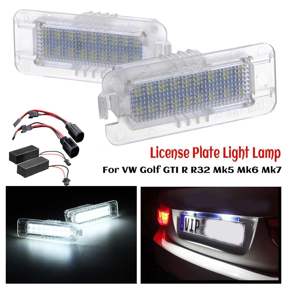 Erreur Canbus LED feux de plaque d'immatriculation pour VW Golf GTI R R32 Mk4 Mk5 Mk6 Mk7 1997-2018 pour VW Polo Scirocco Passat CC