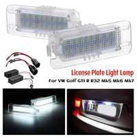Error Canbus LED Licence Number Plate Lights For VW Golf GTI R R32 Mk4 Mk5 Mk6 Mk7 1997 2018 for VW Polo Scirocco Passat CC
