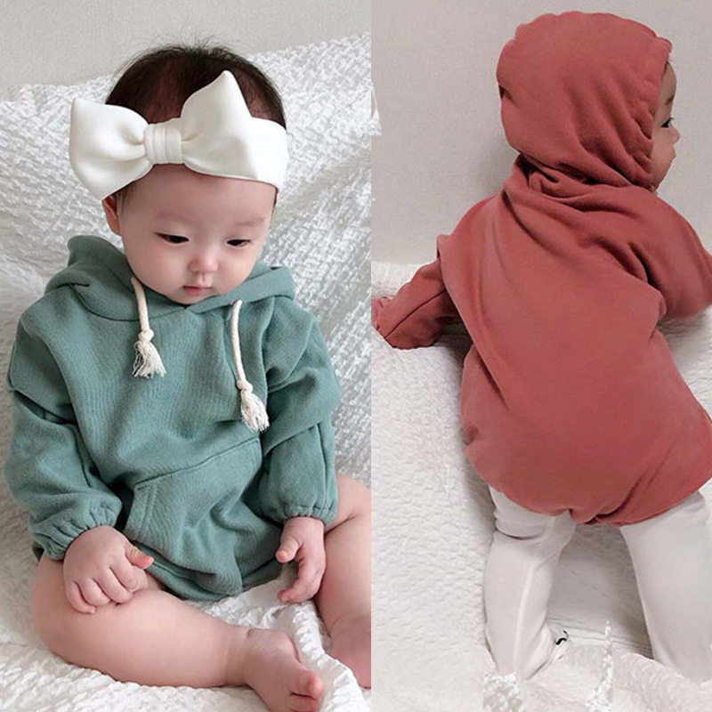 43ae8356b Korean Baby Bodysuits Version Of Baby Letters Loose Jacket Autumn Triangle  Conjoined Blouse Baby Girl Clothes Baby Bodysuits