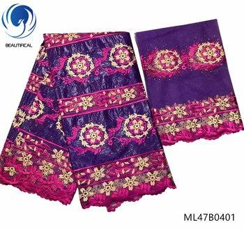 BEAUTIFICAL african bazin riche fabric high quality bazin riche 2019 brocade fabric embroidery 7 yards ML47B04