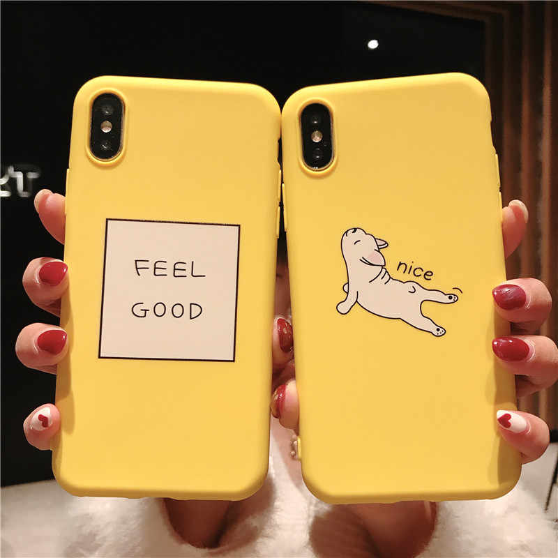 Ottwn Giraffe Kitten Case For iPhone X 8 7 6 6s Plus XR XS Max Cute Cartoon Animals Soft TPU For iPhone 5s SE Cover Phone Cases