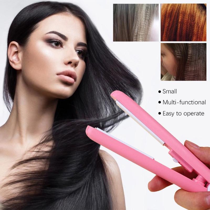 Mini Ceramic Electronic Hair Straightener Iron Chapinha Straightening Corrugated Irons Hair Crimper Styling Tools Hair Iron