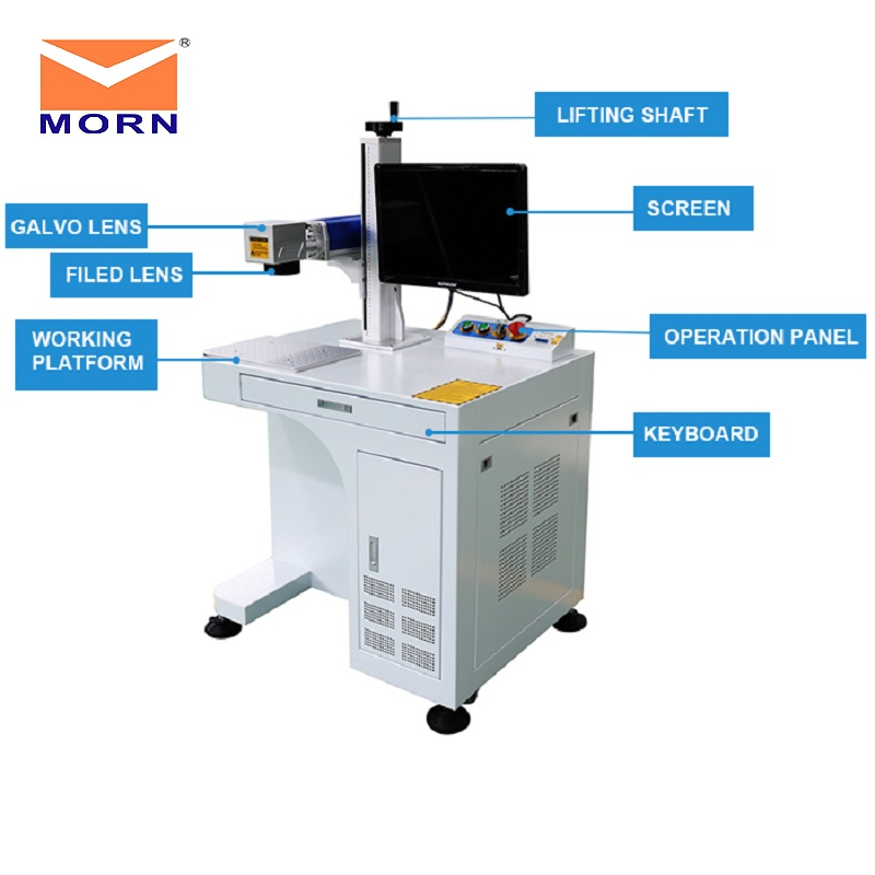 MORN CNC 20W Fiber Laser Marking Machine MT-F20A Milling Engraving Working Laser Cut Jewelry Machine