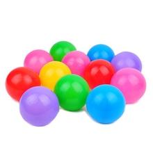 New Arrival 100pcs/set Diameter 5.5cm Plastic Multicolor Cute Kids Soft Ocean Balls Toy Swim Pool Play