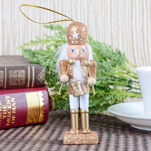 Image 4 - 15Pcs 12cm Wooden Nutcracker Solider Figure Model Puppet Doll Handcraft for Children Gifts Christmas Home Office Decor Display