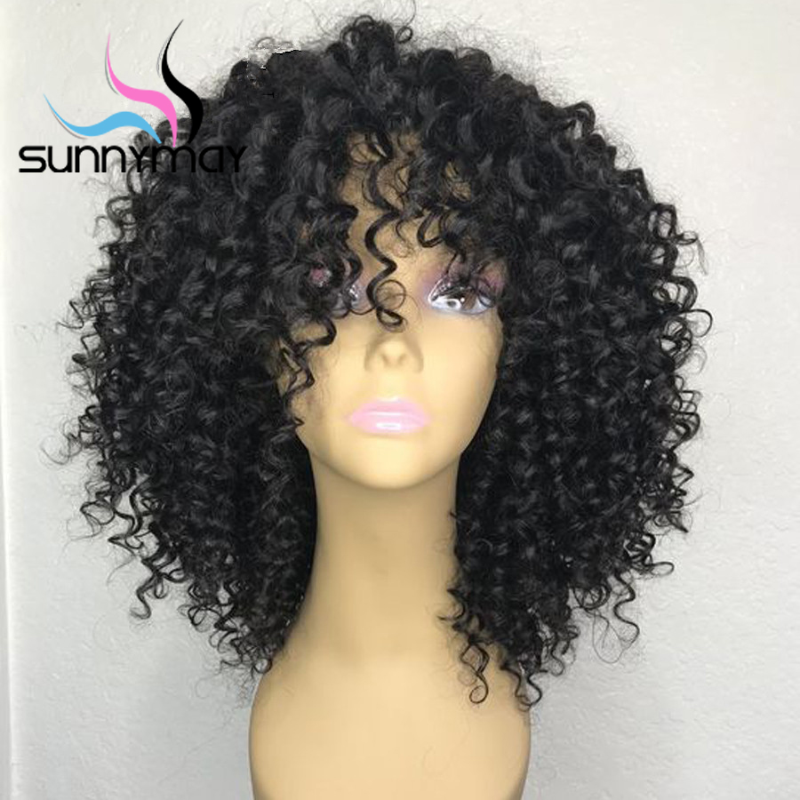 Sunnymay 13x4 250% Lace Front Human Hair Wig With Baby Hair Pre Plucked Curly Human Hair Wig Remy Hair Lace Front Wig For Women-in Human Hair Lace Wigs from Hair Extensions & Wigs    1