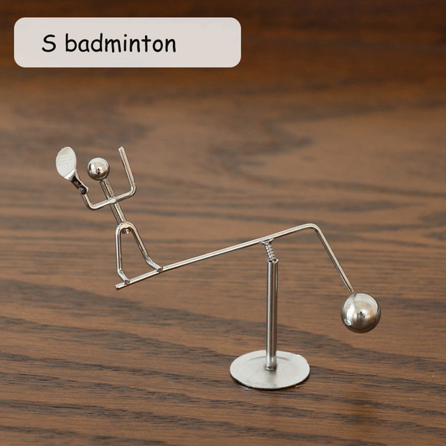 Metal Man Hogar Small Iron Man Perpetual Balance Physics Science Pendulum Newton Cradle Tumbler Desk Toy Home Decor 4