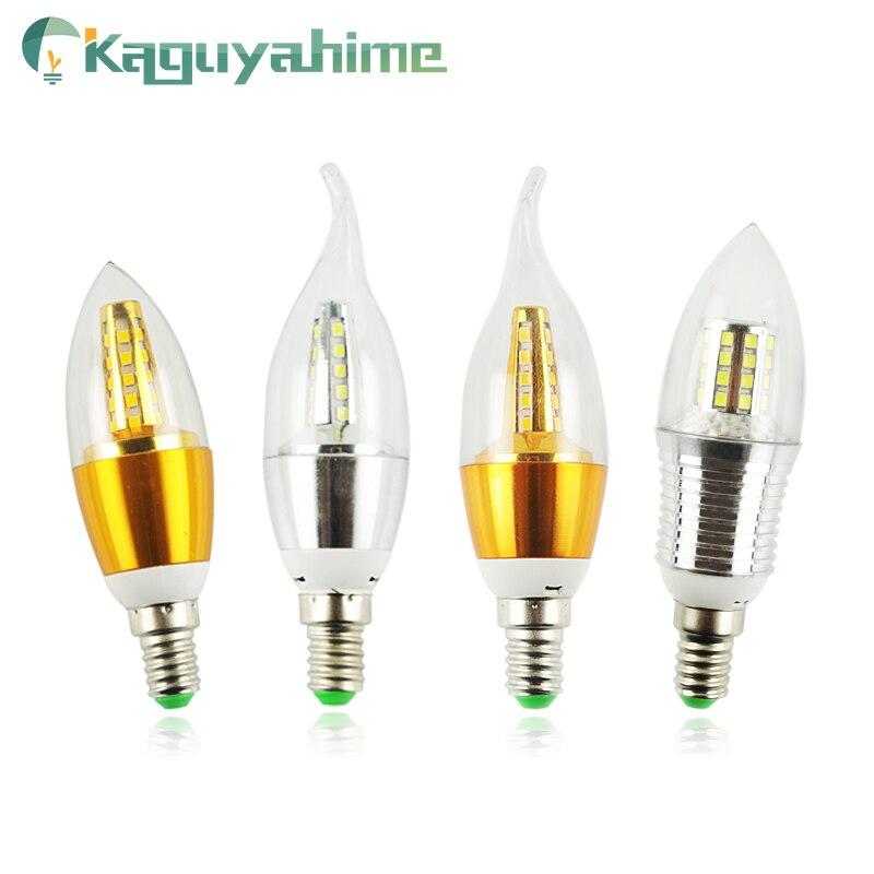 Kaguyahime LED E14 Candle Bulb Aluminum Lamp 220V 5W 7W 9W 12W 240V SMD2835 Energy Saving Lamp Indoor Lighting Decoration Bulb
