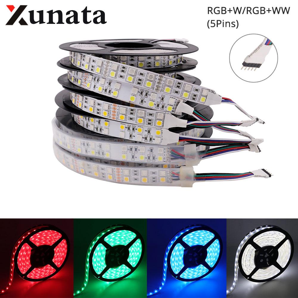 5m Dc12v Led Strip Smd 5050 120leds/m Flexible Ip21 Ip67 Waterproof Rgbw Rgbww Led Ribbon Tape 12v 6a Eu/uk/au/us Power Led Lighting Lights & Lighting