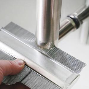 Image 4 - Metal Stainless Steel Profile Contour Gauge Template Tiling Skirting Laminate Profile Wood Ruler Measuring Tools