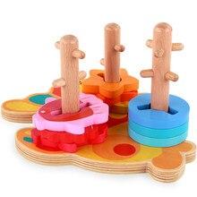 0f36565132 Holz Form Sorter Geometrische Bord Block Stapel Art Chunky Puzzle Spielzeug  Bausteine Lernen Pädagogisches Spielzeug Geschenke f.