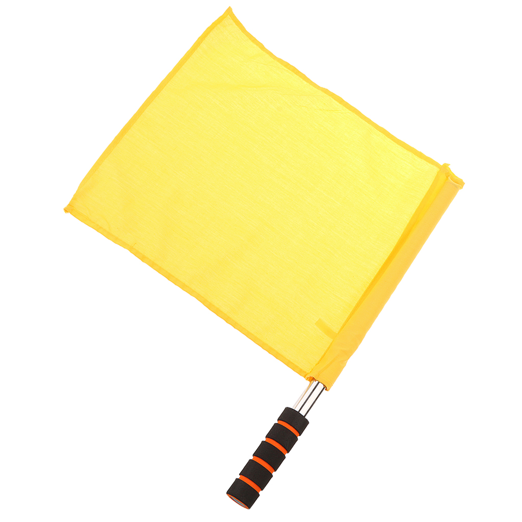 Track And Field Sports Training Flags Referee Football Soccer Hocky Lineman Flag Hand Flag - Yellow