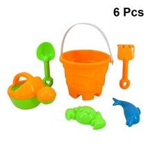 6Pcs Sand Tool Toys Creative Plastic Portable Lightweight Beach Sandbox Sand Toy Sand Dredging Beach Toys for Girls Boys