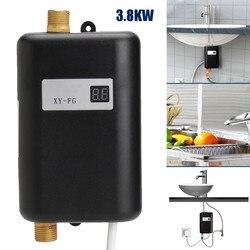 3800 W/3400 W Elektrische Wasser Heizung Instant Tankless Wasser Heizung 220 V 3.8KW Temperatur display Heizung Dusche Universal