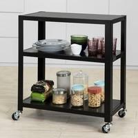 SoBuy FKW61 SCH, Kitchen Storage Trolley Serving Trolley Kitchen Dining Room Sideboard Storage Shelf 3 Tiers