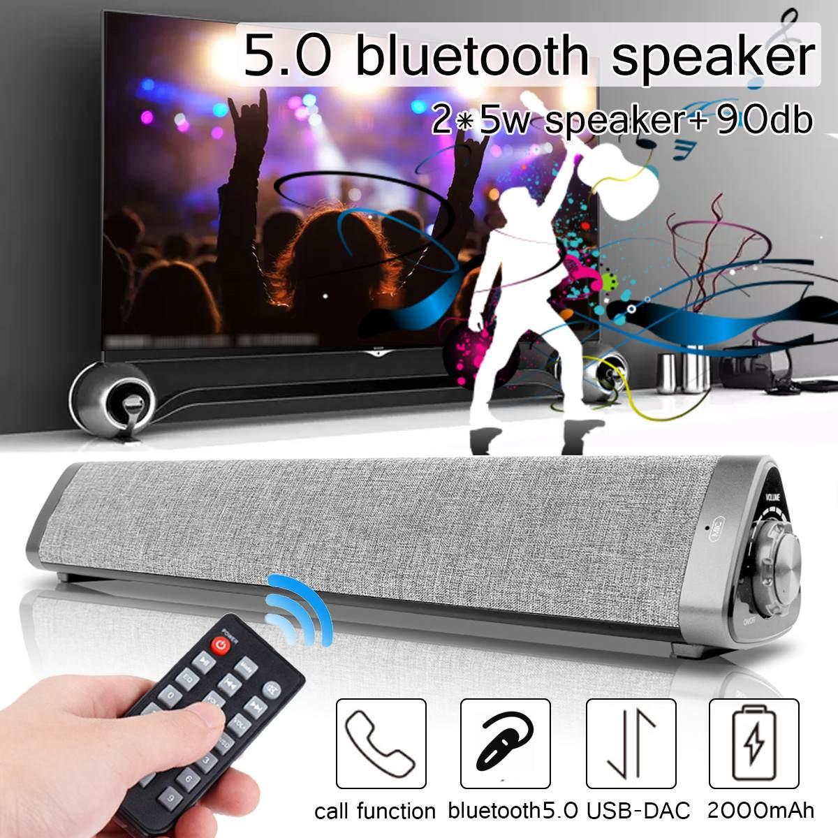 2*5 W Sound Bar Bluetooth 5,0 Soundbar Spalte Dual Subwoofer Lautsprecher Heimkino Surround Sound System Eingebaute 3d Stereo