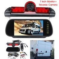 7 LED Monitor + Reversing Backup Rear View Camera w/ Brake Light For Fiat Ducato for Peugeot Boxer for Citroen Relay