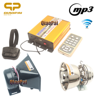 Wireless Police Siren Play Music Mp3 Horn for Car 12V Alarm Speaker Megaphone Fire Control Ambulance RIO Warning Sound PA System