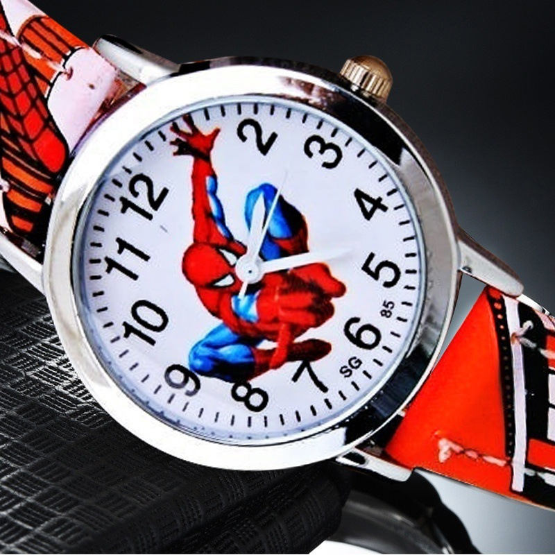 Spiderman Belt Kids Watch Handsome Cartoon Pointer Quartz Primary School Boys Casual Watch