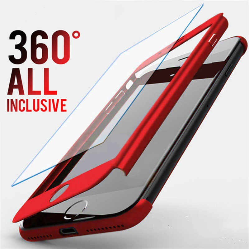 360 Full Body Protective Phone Case For iPhone 8 7 Plus 6 6s Case 5 5S SE X 10 Hard PC Cover For iPhone XR Xs Max X Case cover