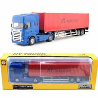 1:50 Scale/Diecast Metal Model/Heavy Container Transport Truck Car/Engineering Toy/Educational Collection For Children/Gift