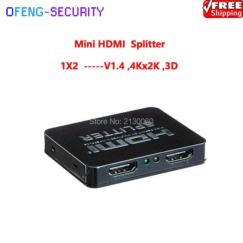 3D 1x2 HDMI Splitter, Mini HDMI Splitter V1.4 1080P/60Hz, Support 3D ,4Kx2K/30Hz