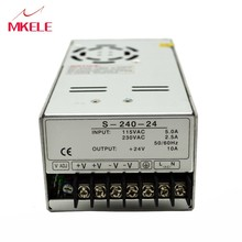 S-240-24 Digital Display External Connection 30A LED Single Output Adjustable Switching Power Supply 240W DC 0-24V [powernex] mean well original hvgc 240 1400a 85 7 171 4v 1400ma meanwell hvgc 240 240w led driver power supply a type